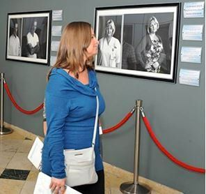 "Visitors enjoy the ""Healers"" exhibit at GMC"