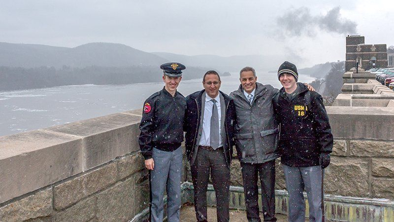 Dr. Eyal Sela and Amir Yarchi at West Point Military Academy